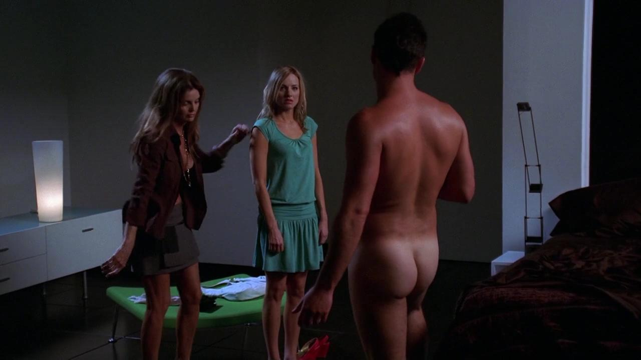Woman legs apart naked